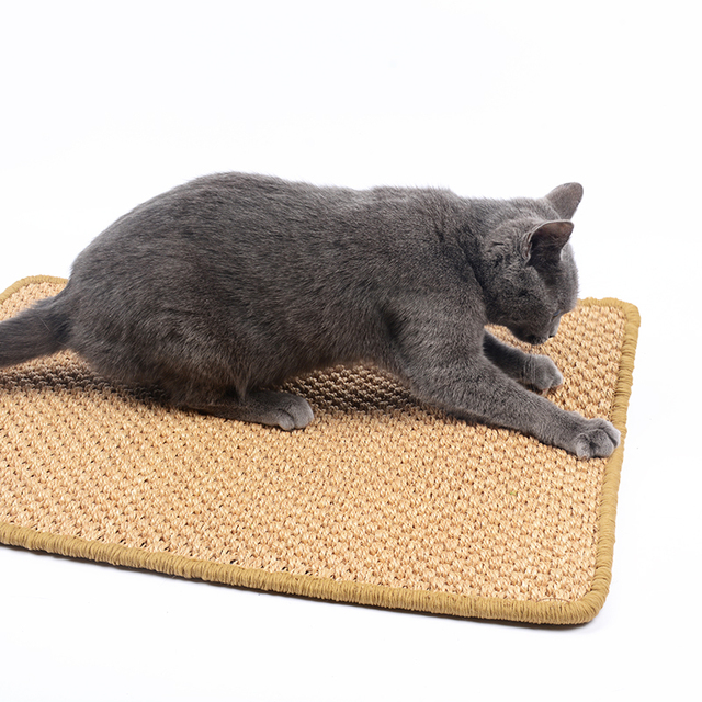 Large Size Sisal Cat Scratcher Board Scratching Post Mat Toy For Catnip Tower Climbing Tree Pad
