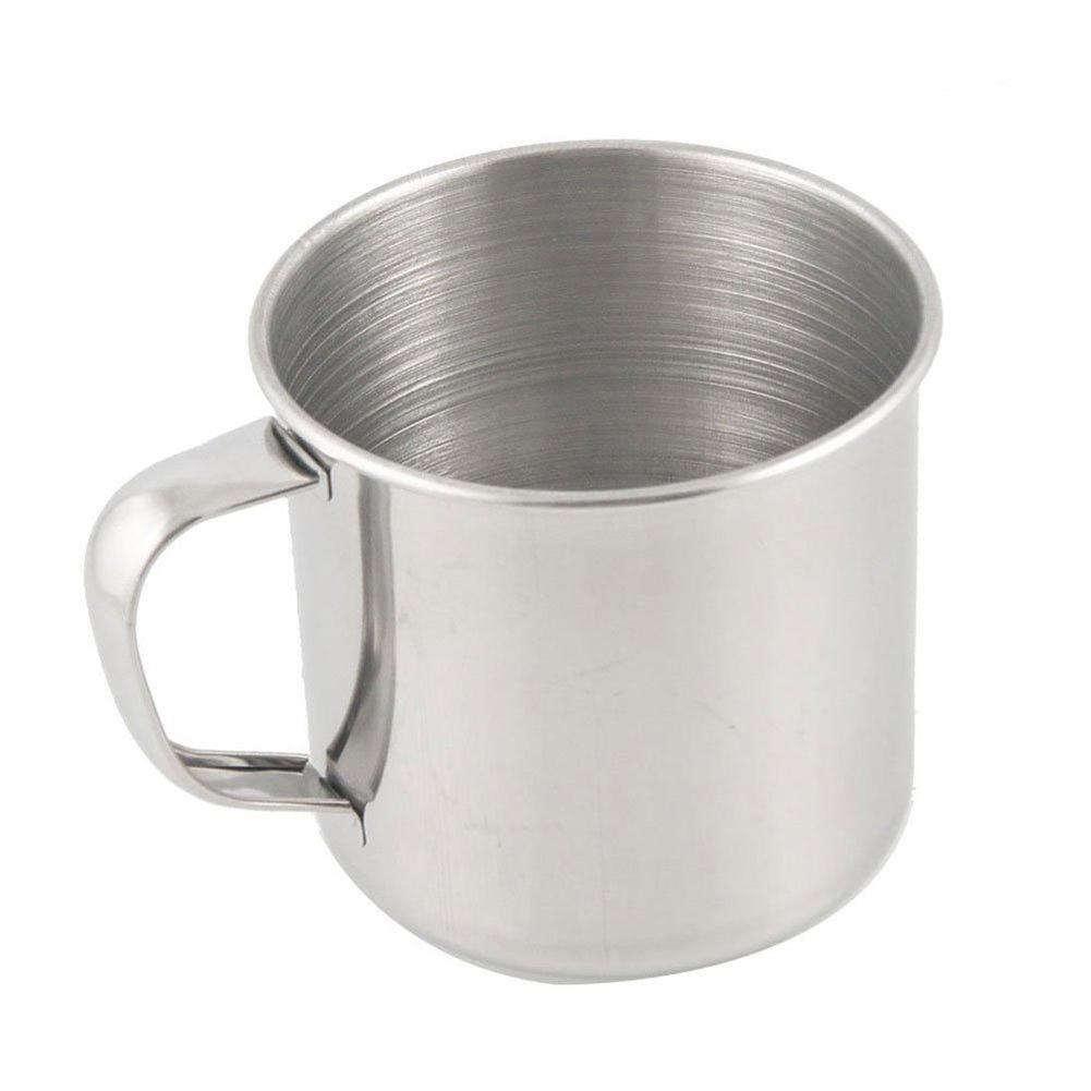 New 1Pc Durable Outdoor Camping Hiking Tea Mug Cup Stainless Steel Coffee Cup Without Lid Easy To Clean