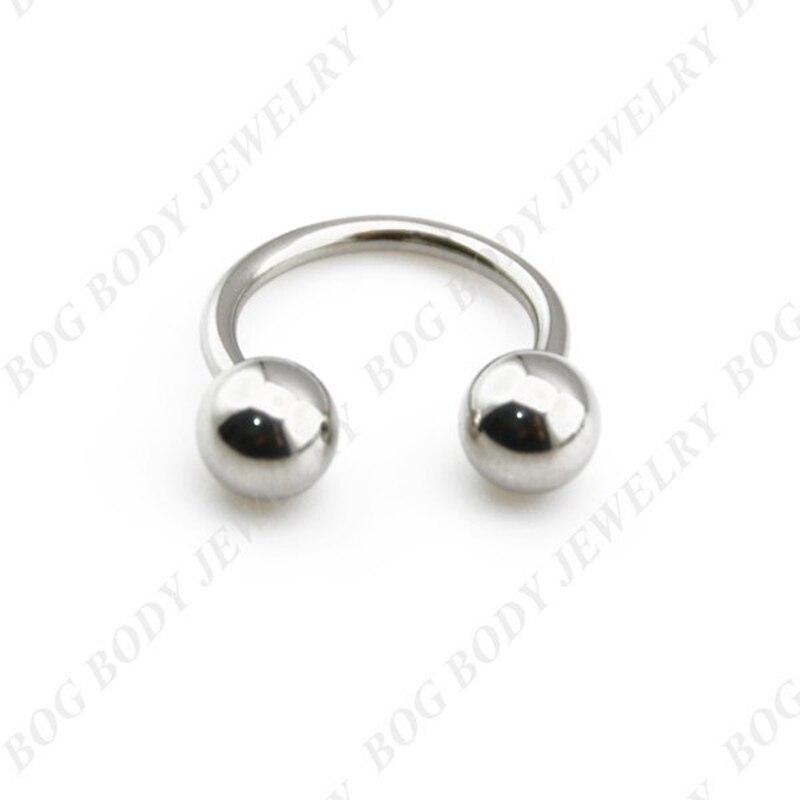 BOG Surgical Steel Horseshoe Bar Lip Nose Septum Ear Ring ...