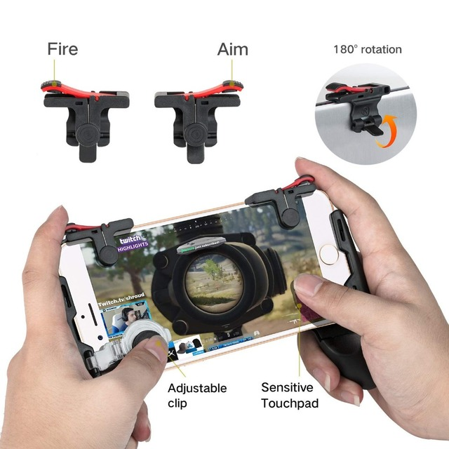 HEYNOW game controller Handle holder gamepad For iphone L1/R1 Shooter Trigger Fire Button Aim Key Shooting for PUBG Knives Out