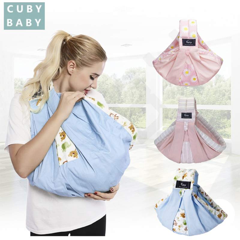 2019 CUBY Hot Baby Sling Print Front Carry Baby Wrap Cotton Wrap Baby Soft Nursing Newborns And Breastfeeding Ergonomics 30KG