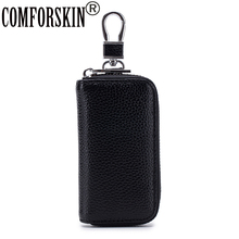 COMFORSKIN Genuine Leather Unisex Key Wallets New Arrivals Multi-function Housekeepers Hot Brand Men Holder 2019