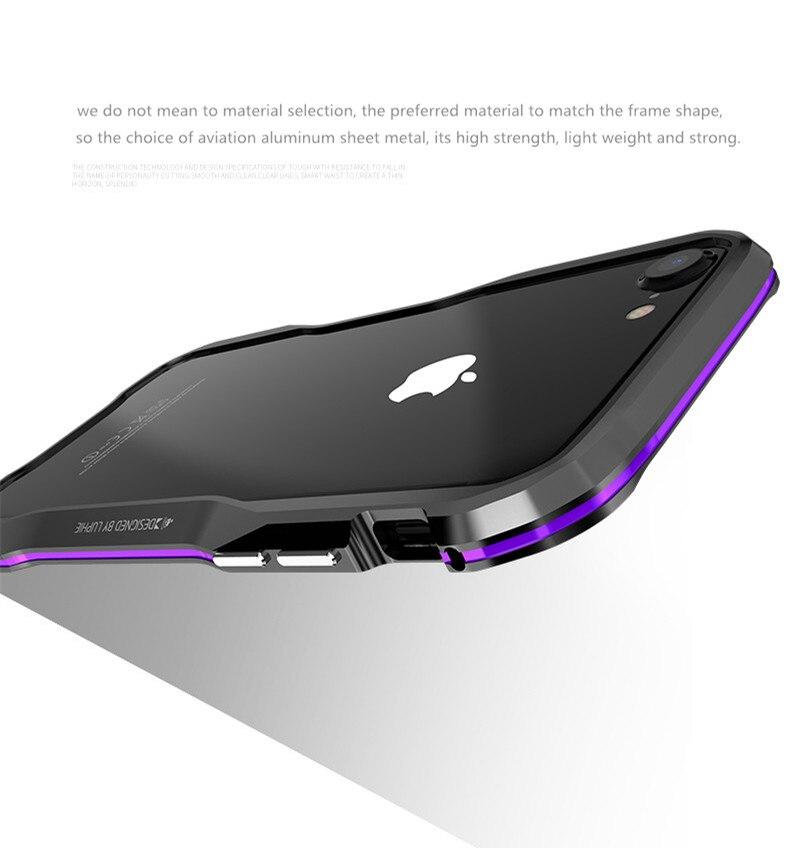 iPhone X 7 8 Plus Luphie Metal Bumper Aluminum Case (6)