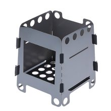 Camping Outdoor Wood Stove Portable Lightweight Folding Burning for Cooking BBQ Backpacking