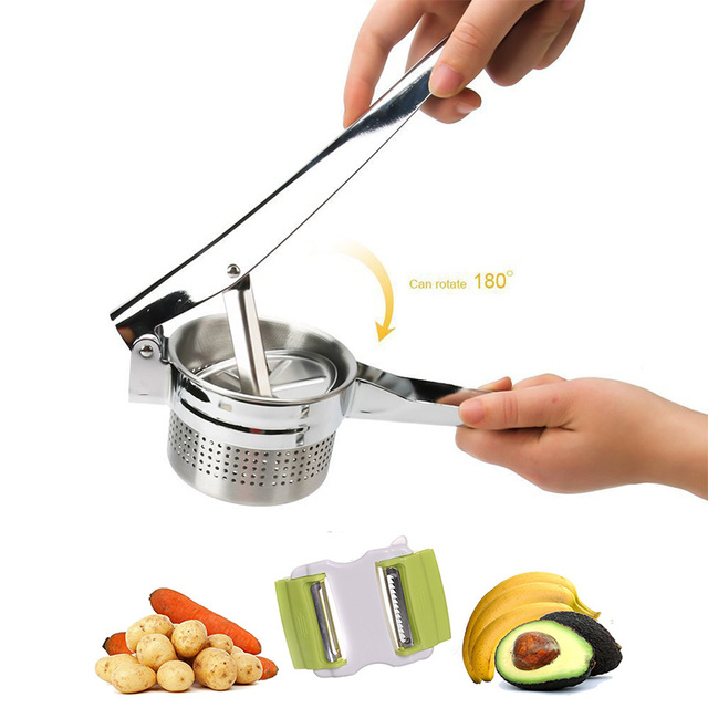 1 Piece Stainless Steel Vegetable Fruit Press