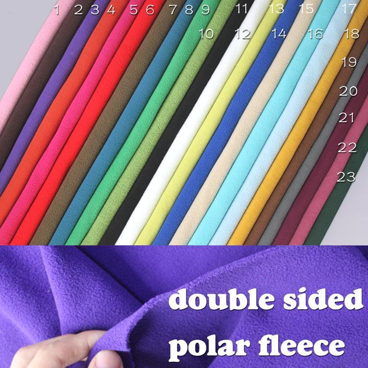 Tejido polar polar de doble cara Abrigos de vellón antipilling - Artes, artesanía y costura
