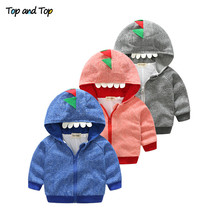 (Top and Top) Spring Autumn Cotton Zipper Sweatshirt Kids Hoodies Tops Baby Boys Girls Long Sleeve Outwear Toddler Hooded Jacket