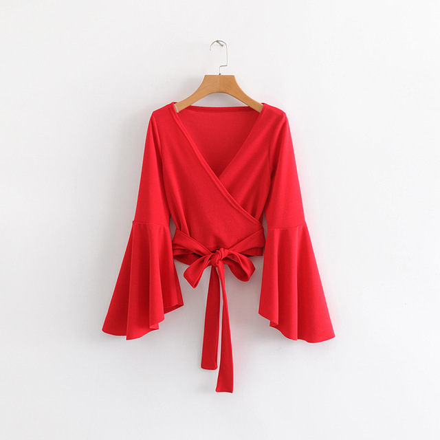 American fashion sleeve blouse
