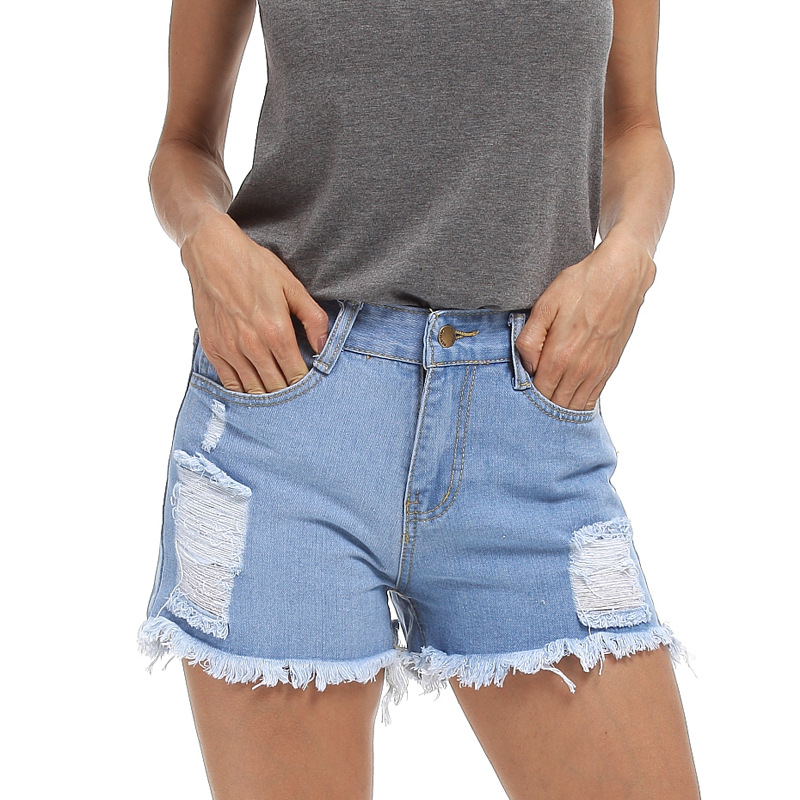 2017 New Large Size S 5XL Women Summer Jeans Code Denim Shorts Female Fat MM Slim