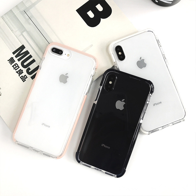 Fashion Anti-knock Shockproof Case for iphone X XR XS Max Transparent soft TPU case for iphone 6 6s 7 8 7plus Protective shell