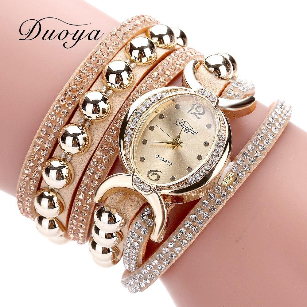 Excellent Quality Duoya Women Bracelet Watch Quartz Watch Wristwatch Women Dress Leather Bracelet Watches Montre Femme #A03