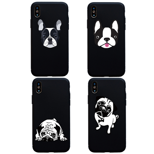 New Boston Terrier Cão Buldogue Pug Animal soft case para iphone 5s SE 6 6 s mais Funda Para iphone X XS Max XR 7 8 mais Cobertura Coque