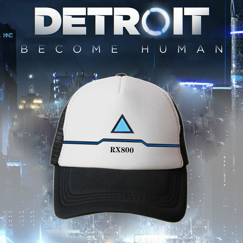 COSREA New Anime Detroit: Become Human Connor Baseball Cap Hip Hop Unisex Adjustable Caps Summer Women  Men Fitted Hats Caps