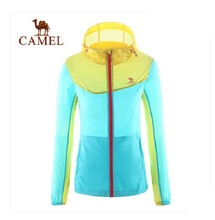 Camel Outdoor Skin Jackets 2016 Women Trench Thin Breathable Female UV Sun-Protective Quick-Drying Sports Jackets A6S114104