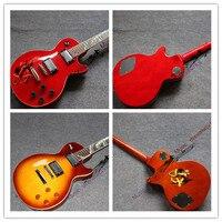 Çin'in gitar firehawk oem toptan özel mağazalar elektro gitar g gitar yılan klavye slash mark imzası