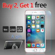 Screen Protector Tempered Glass For iPhone 7 7plus 9H 0.33mm Anti Impact AntiFingerprint Protective Glass Film For iPhone 7