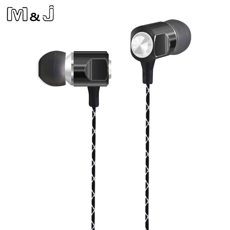 M & J-56 Drive-by-wire Auriculares de Metal En la oreja los auriculares Con Inte
