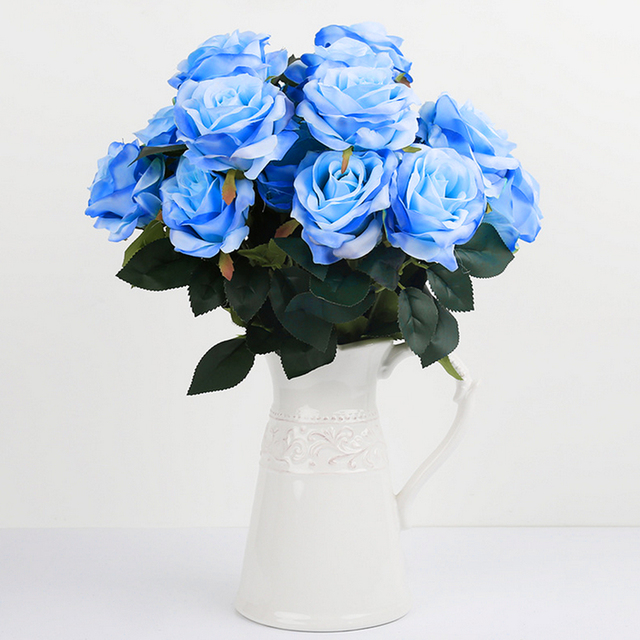 Cute 1Bunch Artificial silk French Rose Floral Bouquet Fake Flower ...