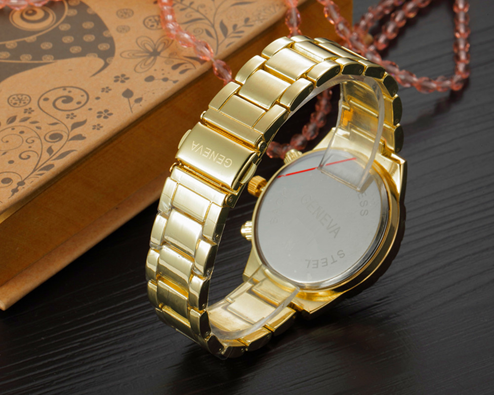 lvpai luxury plated watch fashion brand quartz crystal women business products dress watches bracelet ladies gold wristwatch