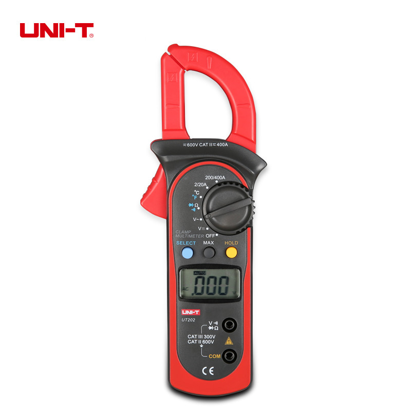 UNI-T UT202 Digital Clamp Multimeters With Temperature Measurement Auto Range Current Voltmeter Ammeter Thermometer токовые клещи uni t ut202