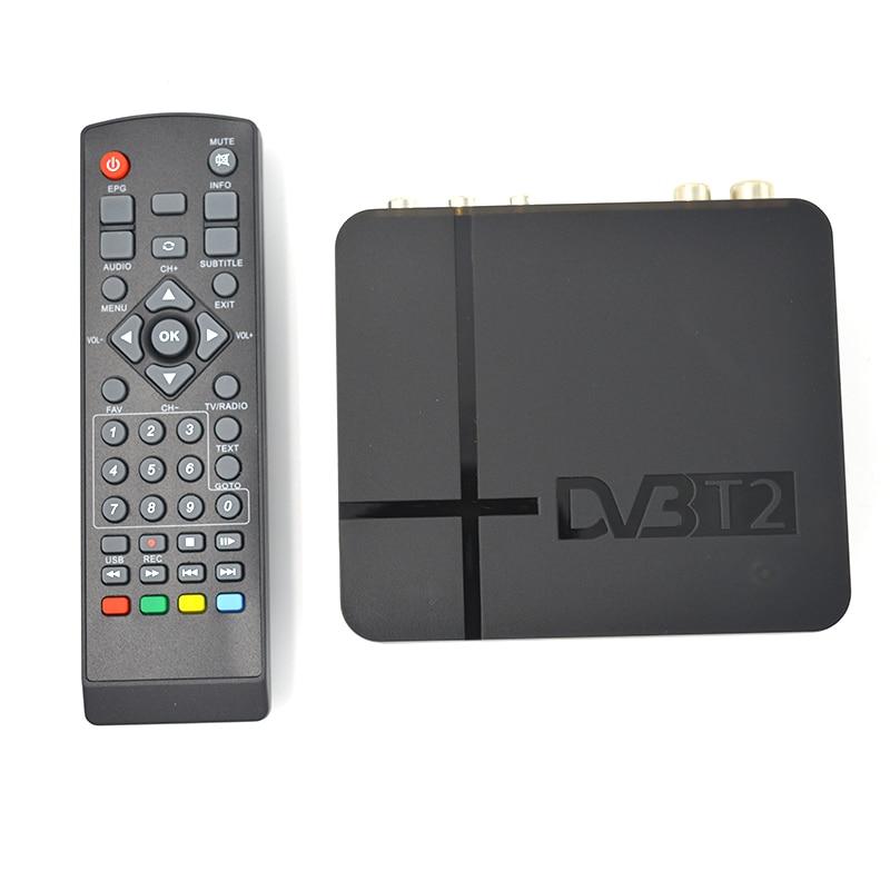 HD 1080 P USB 2.0 Sintonizzatore MPEG4 H.264 AV IR Mini DVB T2 Ricevitore Digitale Terrestre/Mini Set Top Box Per La RUSSIA/Europa/THAILANDIA