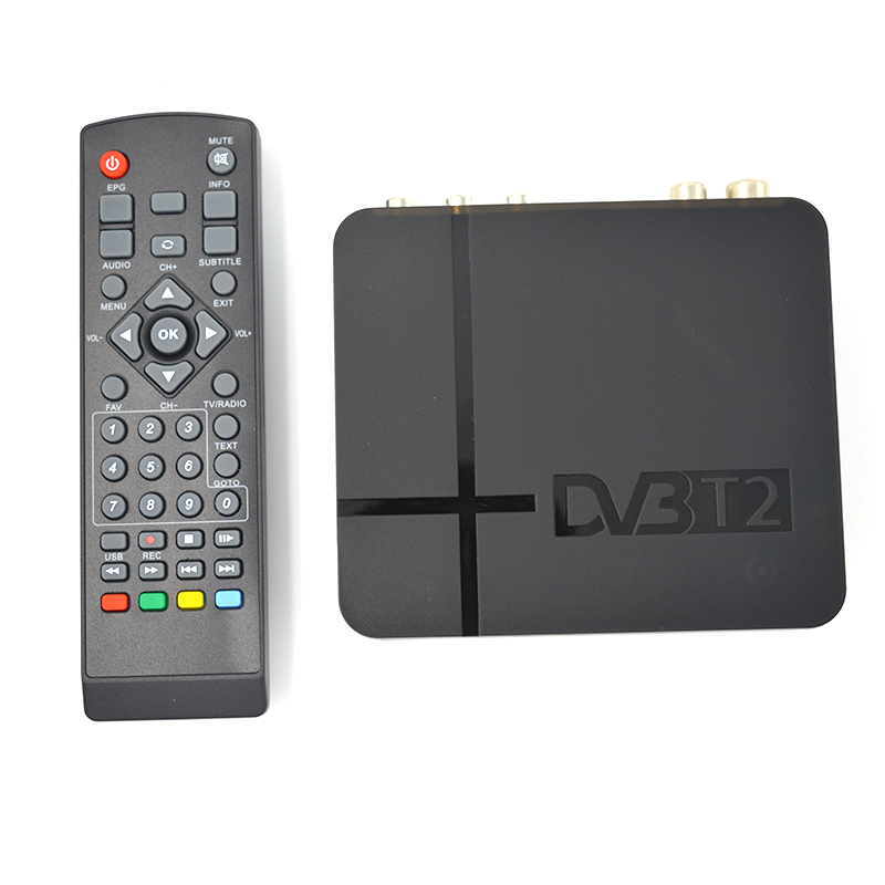 HD 1080P USB 2.0 MPEG4 H.264 AV IR Tuner Mini DVB T2 Digital Terrestrial Receiver/Mini Set Top Box For RUSSIA/Europe/THAILAND
