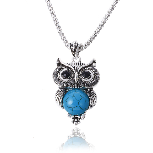 Silver Plated Vintage Owl set 6