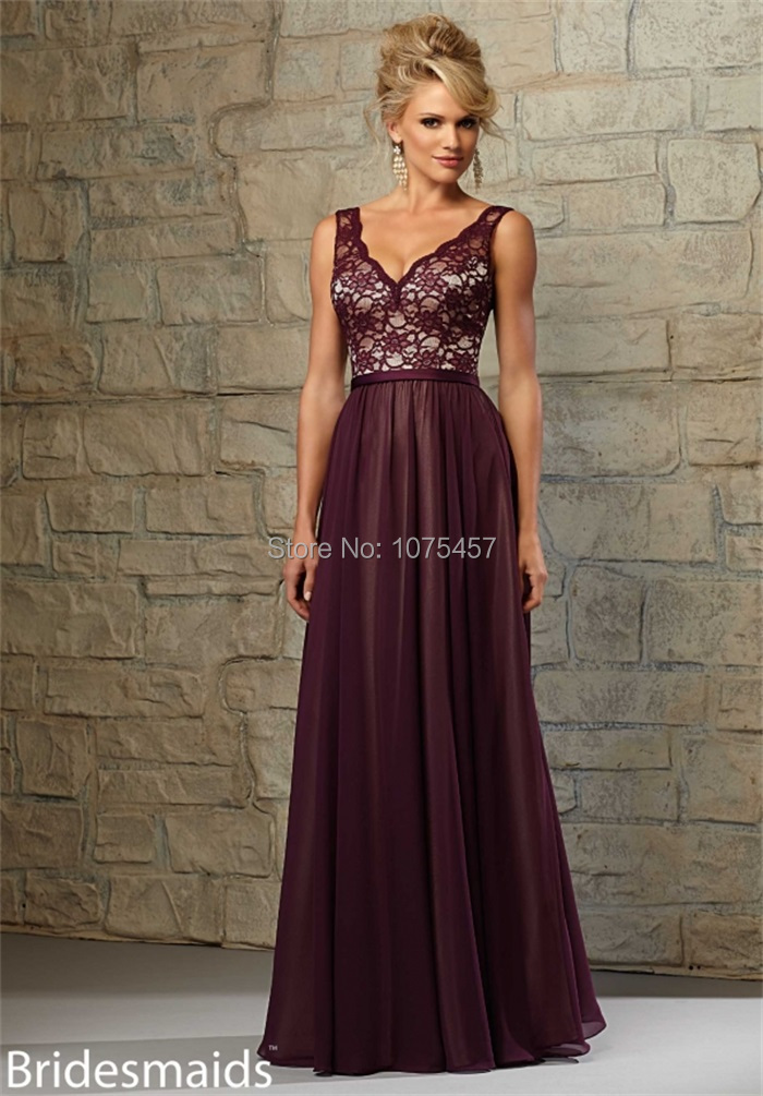 Online Get Cheap Plum Lace Bridesmaid Dress -Aliexpress.com ...