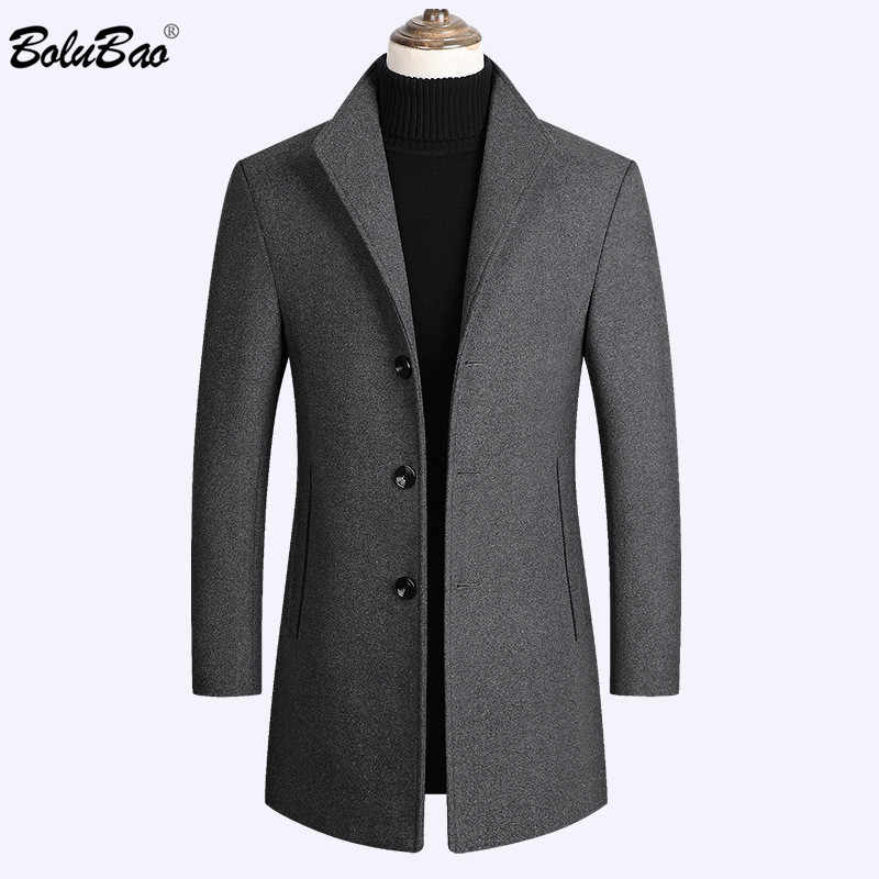 BOLUBAO Brand Men Wool Blends Coats Autumn Winter New Solid Color High Quality Men's Wool Coats Luxurious Wool Blends Coat Male
