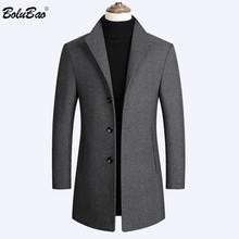 BOLUBAO marka wełniane dla mężczyzn płaszcz z mieszanki s jesień zima nowy Solid Color wysokiej jakości męskie płaszcze z wełny luksusowy płaszcz z mieszanki wełny mężczyzna tanie tanio Pełna REGULAR Kaszmirowy STANDARD Coats Suknem Wełna mieszanki NONE Poliester Stałe Długi Skręcić w dół kołnierz