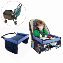 купить Baby Car Seat Tray Stroller Kids Toy Food Water Holder Desk Children Portable Table For Car New Child Play Table Storage 40*33cm дешево