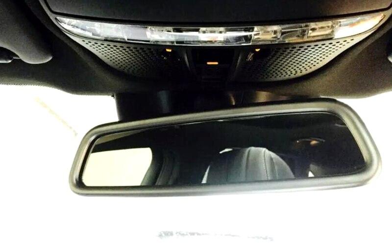ᗕ2015-2017 para MERCEDES BENZ GLC clase x205 cromo interior espejo ...