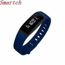 Smartch Новинка! SmartBand V07 Смарт-часы браслет сердечного ритма Мониторы Приборы для измерения артериального давления браслет Фитнес трекер SMS для Android/IOS