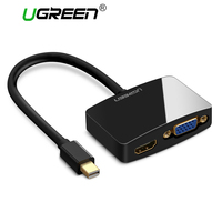 Ugreen 2 In 1 Thunderbolt Mini DisplayPort Display Port DP To HDMI VGA Adapter Cable For