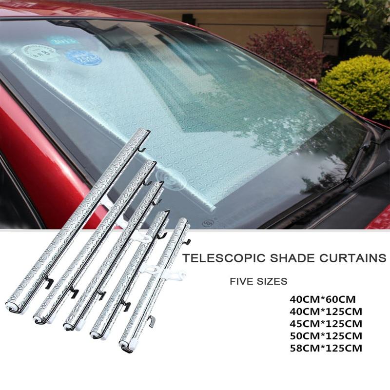 Auto Retractable Car Sun Visor Front Windshield Window Sun Shade Shield Visor Cover Car Window Cover Sunshade Curtain Protection