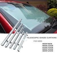 Parasol autoretráctil para coche parabrisas frontal ventana parasol cubierta de visera cubierta para la ventana del coche parasol protección de cortina|Parasoles para parabrisas| |  -