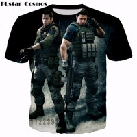 PLstar Cosmos Free Shipping 2017 Summer Fashion T Shirts Latest Design Game Characters 3d Printed Men
