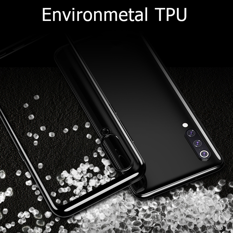 Luxury TPU Soft Clear For Xiaomi Mi 9 Case 3D Laser Plating Cover For Xiaomi Xiomi Mi 9 SE Mi9 Bright Crystal Phone Cases Funda in Fitted Cases from Cellphones Telecommunications
