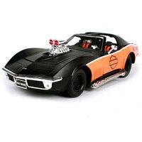 Maisto 1:24 1970 Corvette harley cool black car diecast luxury cooling car model gift for men motorcar diecast shape 32193