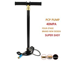 PCP Paintball Airforce Scuba High Pressure Pump 40MPA Upgraded Stainless Steel Four Stage Air Cooling HPA Tank Air Filling M10x1