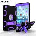 MAX-Q Case Для Apple iPad Mini 4 Противоударный Heavy Duty Резиновые с Жесткий Стенд Case Обложка Fundas Ж/Screen Protector + Стилус