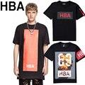 HBA Футболка Мужчины Лето Стиль Карта Гуд По Воздуху HBA хип-Хоп Улица Skate хабар аниме фитнес-3d marcas HBA Т рубашка