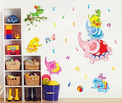 Детские размеры Ростомер рост ребенка измерения высота линейка настенная бумага Милая мультяшная Наклейка на стену - Цвет: I