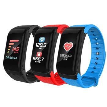 2018 Nuovi Sport Vigilanza Del Braccialetto Intelligente di Pressione Sanguigna Monitor Impermeabile Heart Rate Monitor Pulse Meter Meteo Astuto Della Vigilanza