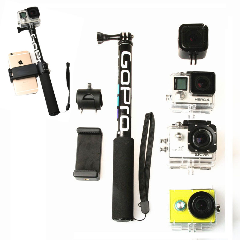 Adapter Monopod Extendable Phone-Holder Pole Self-Selfie-Stick Sjcam-Accessories Handheld