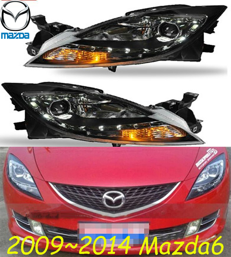 Mazd6 headlight 2009 2013 LHD RHD need add 200USD Free ship MAZD6 fog light 2ps set