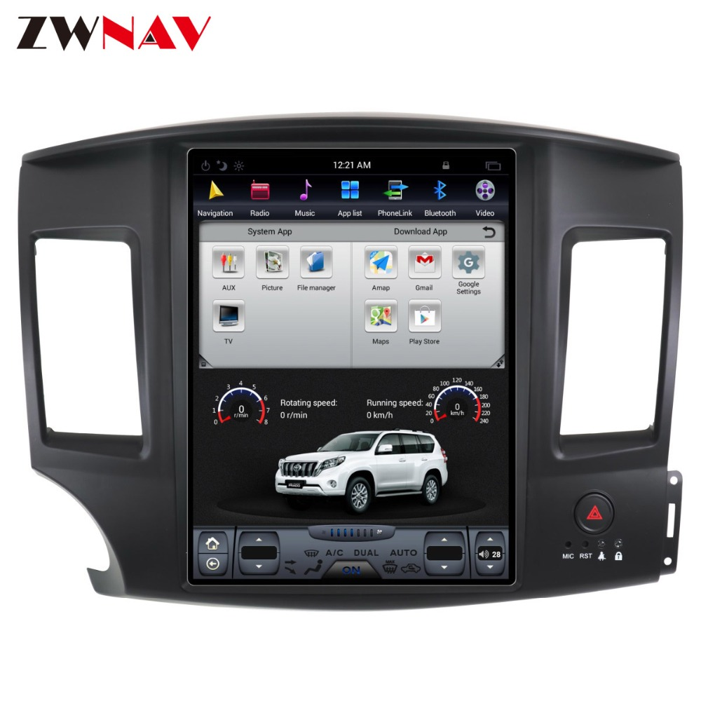 ZWNVA Tesla IPS Screen Android 6.0 Car GPS Navigation Radio For Mitsubishi Lancer 2007 - 2017 No CD Player GPS System Audio