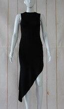 Hot Sexy Asymmetrical Mini Dress Sleeveless Black Women Dresses for Party Female Vestidos Dress