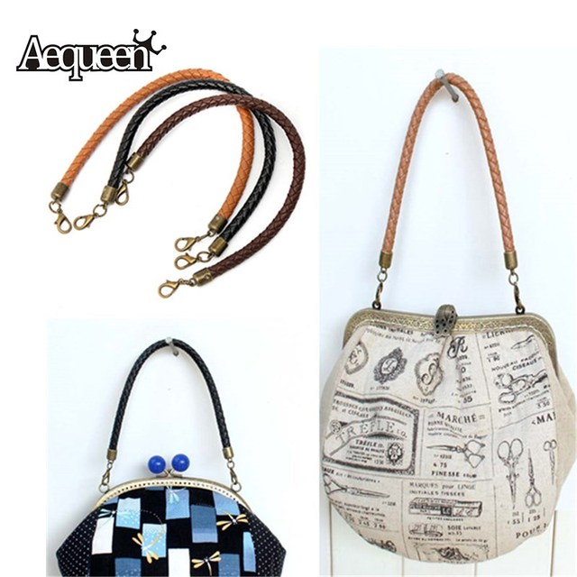 4d8d1460edc7 AEQUEEN Shoulder Bags Accessories Women s Bags Belt Handle DIY Replacement  Handbag Strap Weave Leather Round Bag Handle