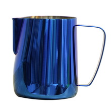 ROKENE Stainless Steel Titanium Blue Espresso Coffee Pitcher In Kitchen Home Coffee Jug Latte Milk Frothing